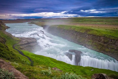 The spectacular Gulfoss waterfall as viewed from above - Iceland's Golden Circle