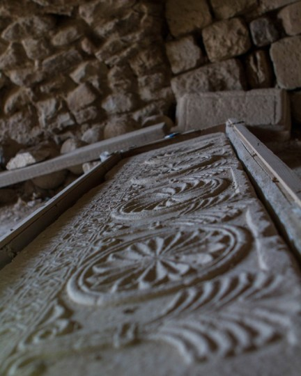 Intricate carvings on ancient artifacts