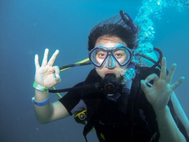 Enjoying the dive