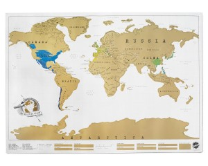 Holiday Gifts-Scratchable-World-Map