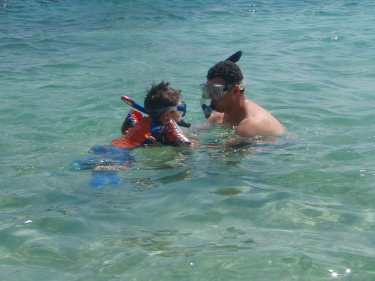 C snorkelling near Pirate Island in Colombia