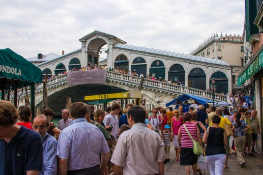 Crowds of tourists fill the bridges and squares of Venice, Italy - Lost in Venice