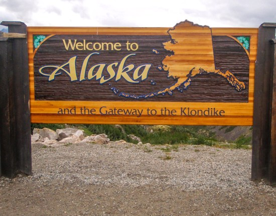 Welcome to Alaska Road Sign
