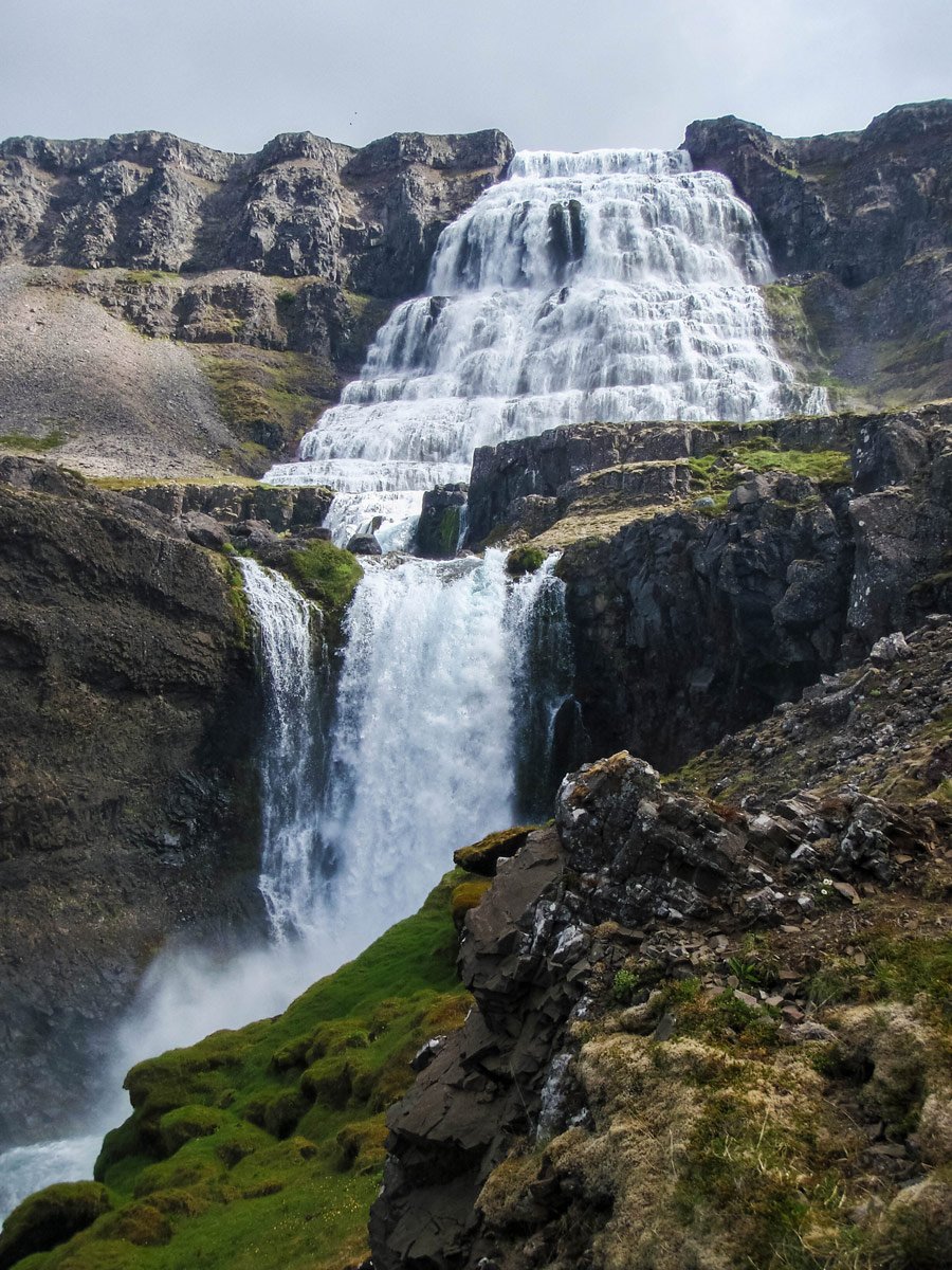 The Dynjandi waterfall cascades over several levels - An Epic 14 Day Iceland Itinerary