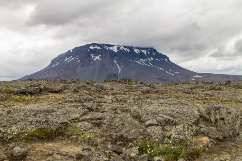 A mountain rises from a field in Iceland - An Epic 14 Day Iceland Itinerary