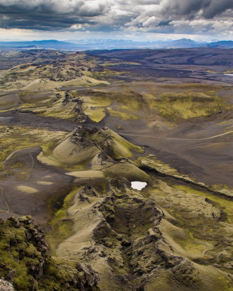 A series of volcanic craters strung out across the Icelandic highlands - An Epic 14 Day Iceland Itinerary