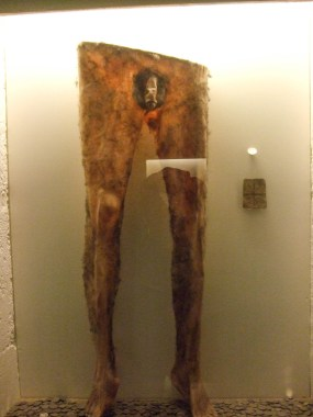 A pair of pants made from human skin at the witchcraft and sorcery museum in Iceland - An Epic 14 Day Iceland Itinerary