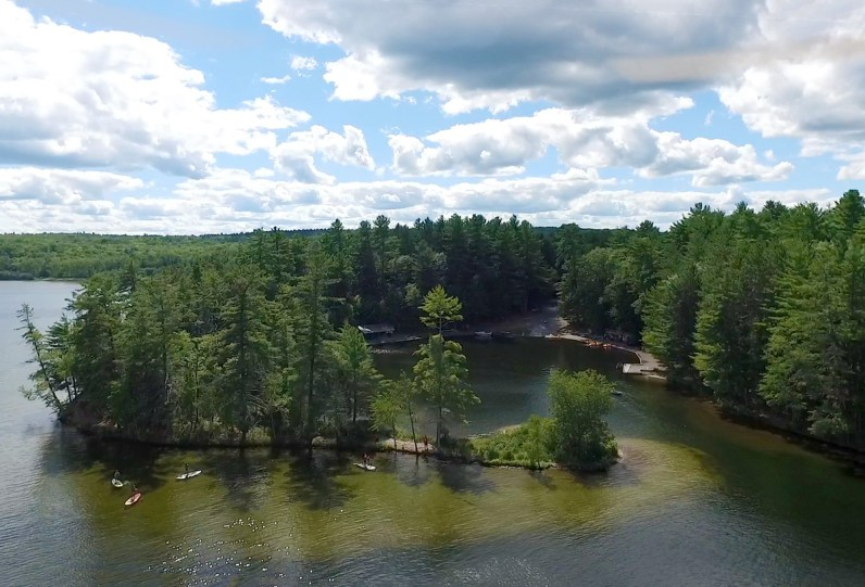 Aerial view of the Lagoon in Bon Echo Provincial Park - Top things to do in Bon Echo Provincial Park
