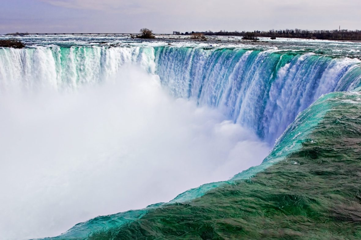 Top of the Horseshoe Falls at Niagara Falls