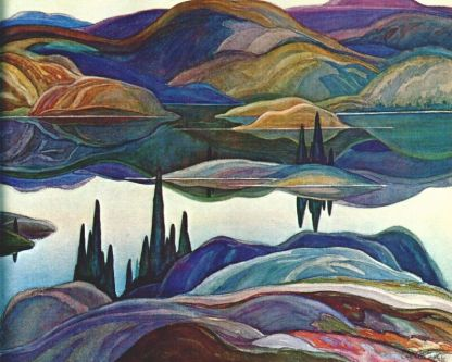 Mirror Lake painting by the Group of Seven artist Franklin Carmichael