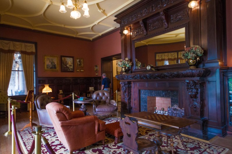 The sitting room in Boldt Castle.