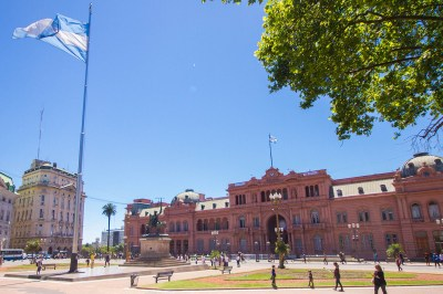 Casa Rosada in Plaza de Mayo is one of our Buenos Aires highlights.