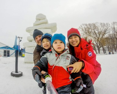 Enjoying a day out at the Winterlude Festival in Ottawa, Ontario