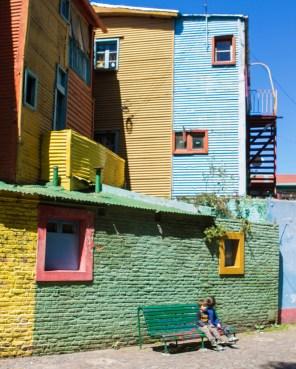 Colorful buildings in El Caminito, La Boca.