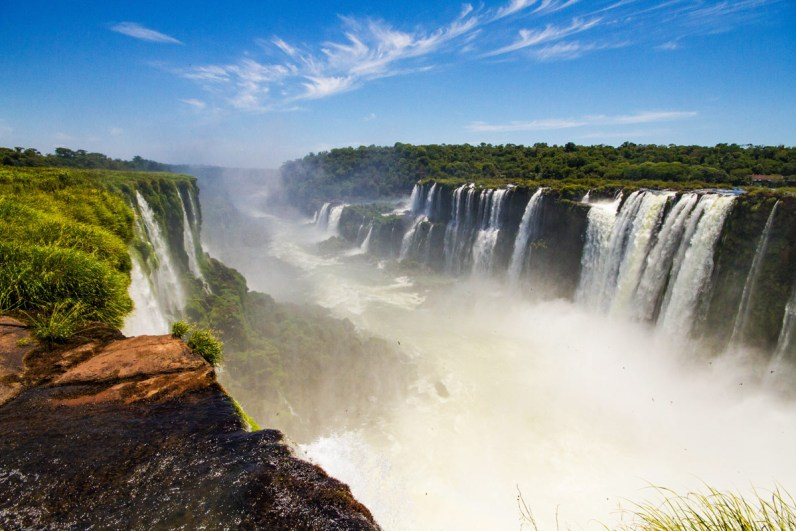 View from Devil's Throat lookout point in Iguazu Falls Argentina.