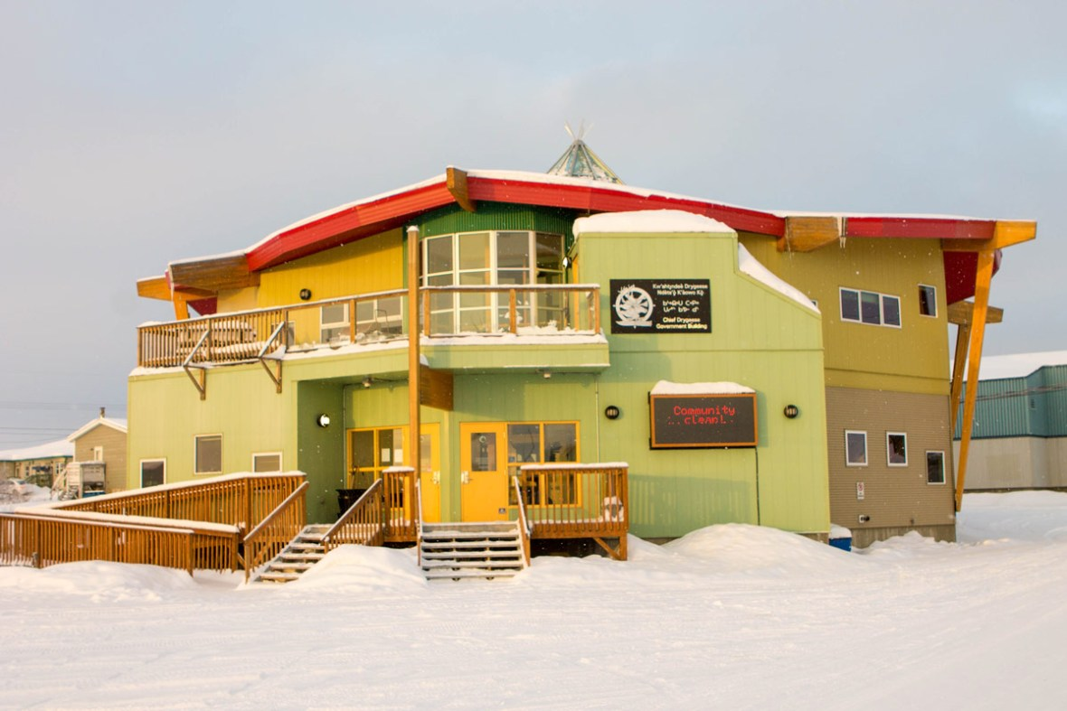 Community building in Dettah, Northwest Territories. A visit to Dettah is a great thing to do in Yellowknife Northwest Territories