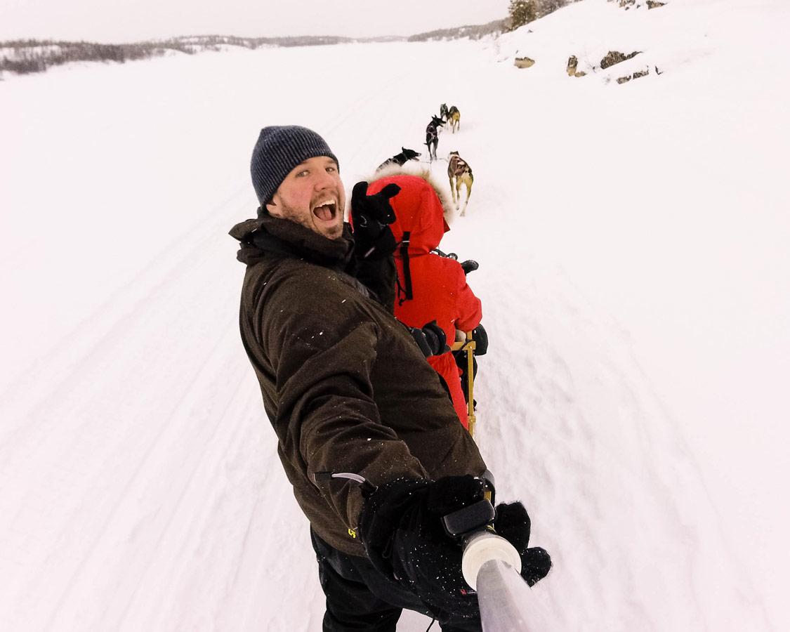 Dog sledding in Yellowknife Northwest Territories