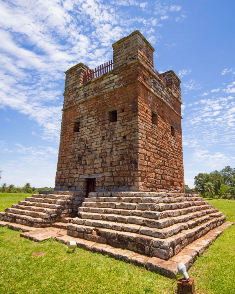 The stone watchtower in the ruins of Trinidad in Paraguay