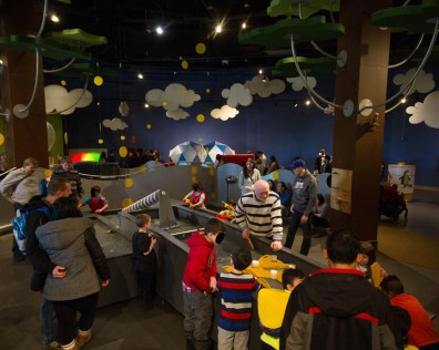 Children play at the KidSpark experience at the Ontario Science Centre