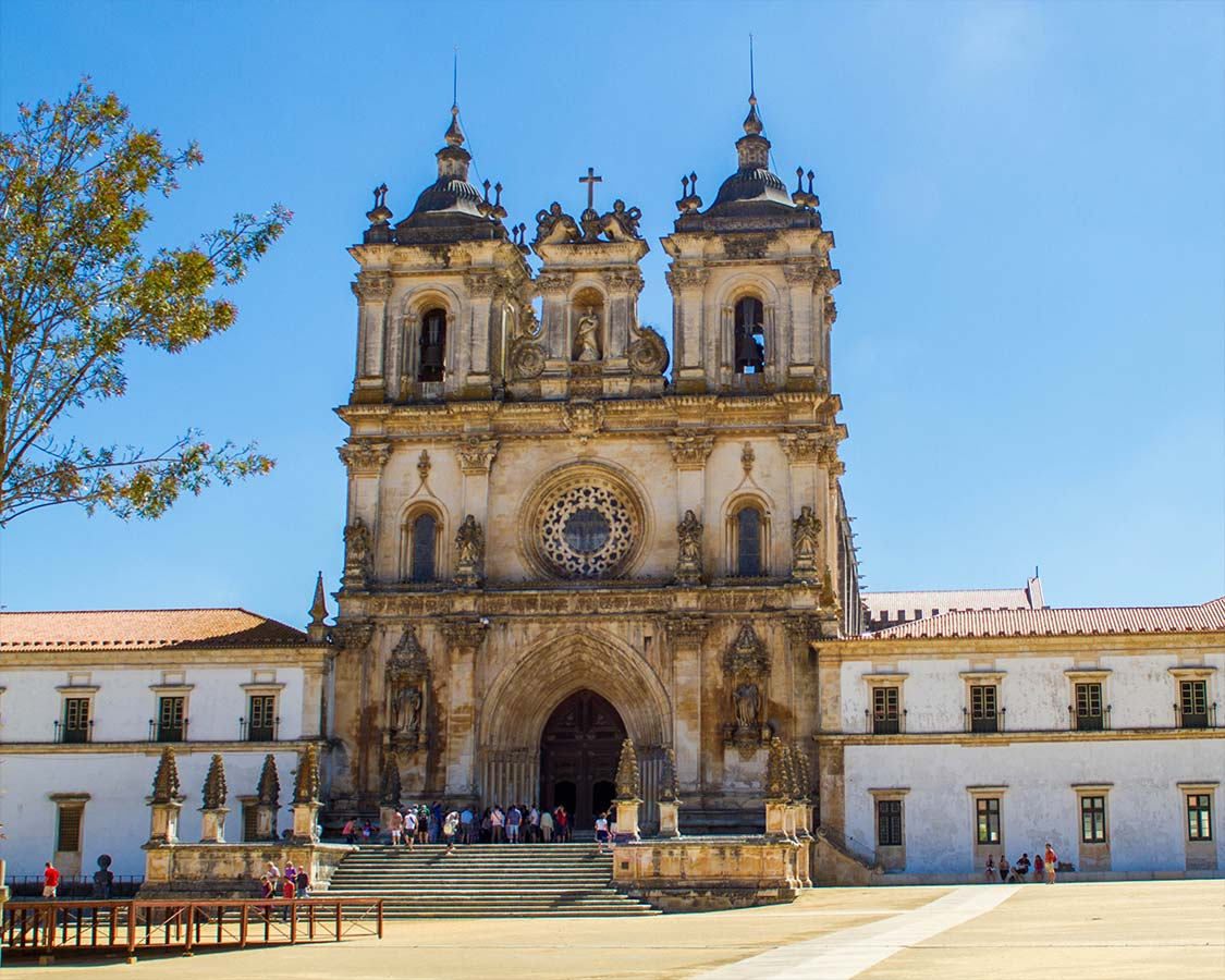 Entrance to the Alcobaca Monastery in Alcobca Portugal