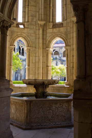 Water basin in the Monastery of Alcobaca, Portugal.