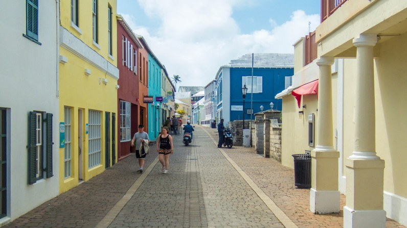 The colorful streets of St. George's Bermuda