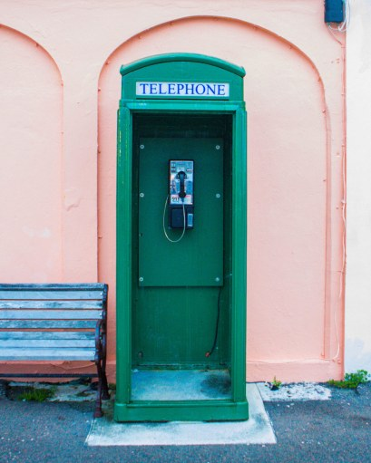 Phone booth in St George Bermuda.
