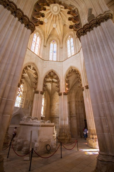 Tomb inside the Founder's Chapel of the Monastery of Batalha, Portugal.