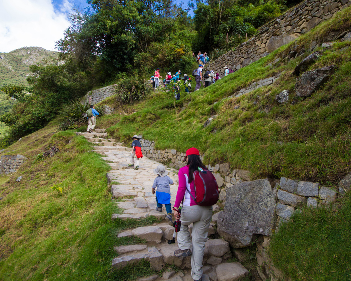 Hiking can be tough when visiting Machu Picchu with kids.