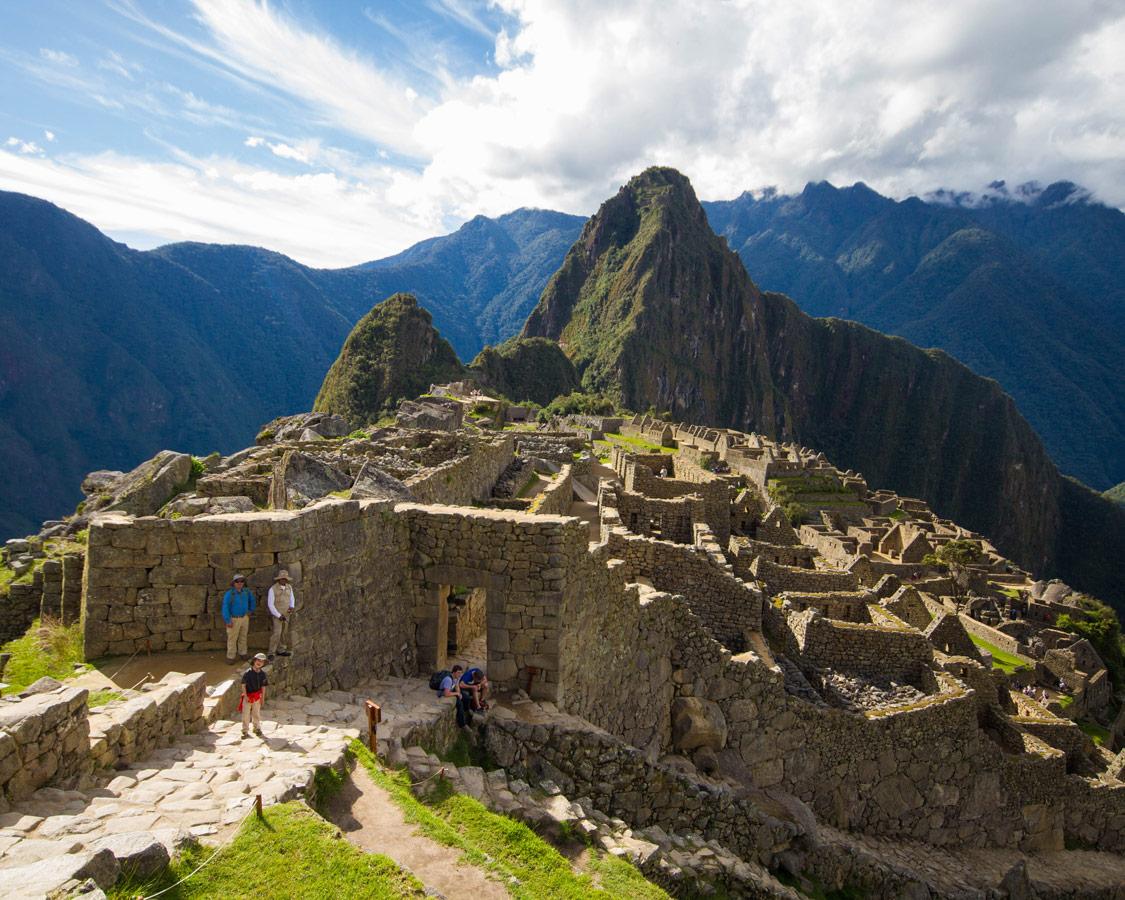 Family travel to Machu Picchu - Getting ready to enter the Sun Gate at Machu Picchu.
