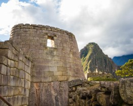 Temple of the Sun at Machu Picchu.