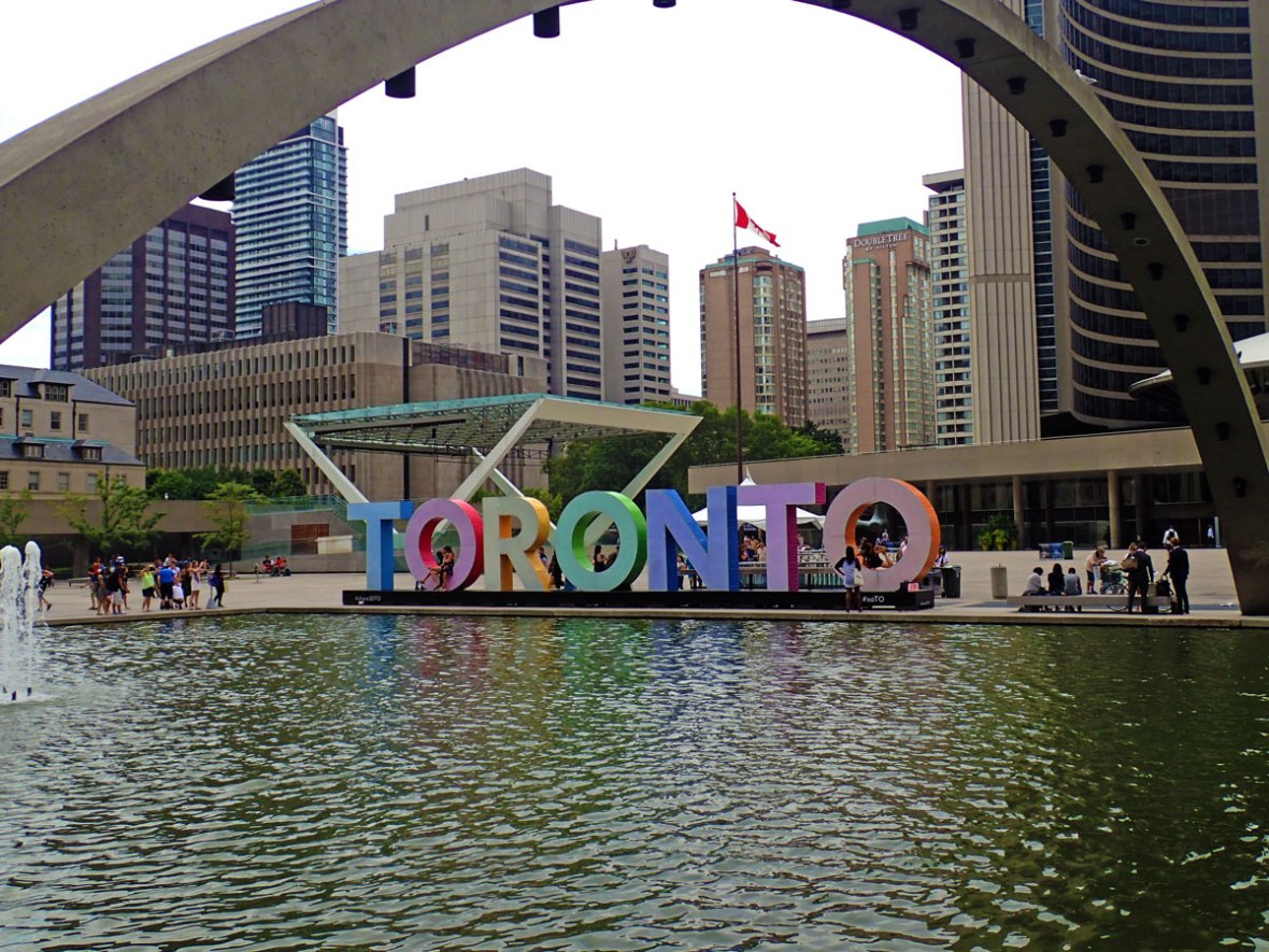 Toronto sign at City Hall is one of the most amazing places in Canada