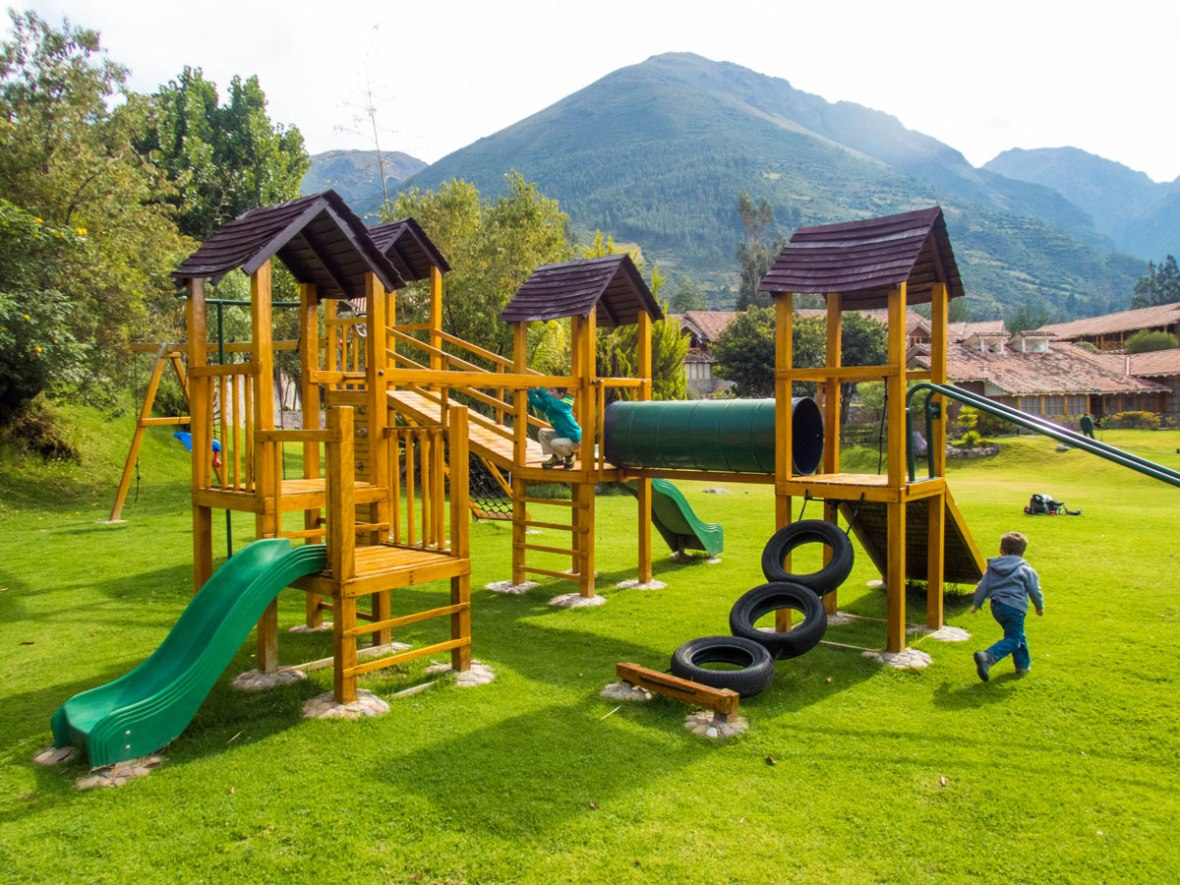 Playground in the yard of the Casa Andina Private Collection Sacred Valley Peru
