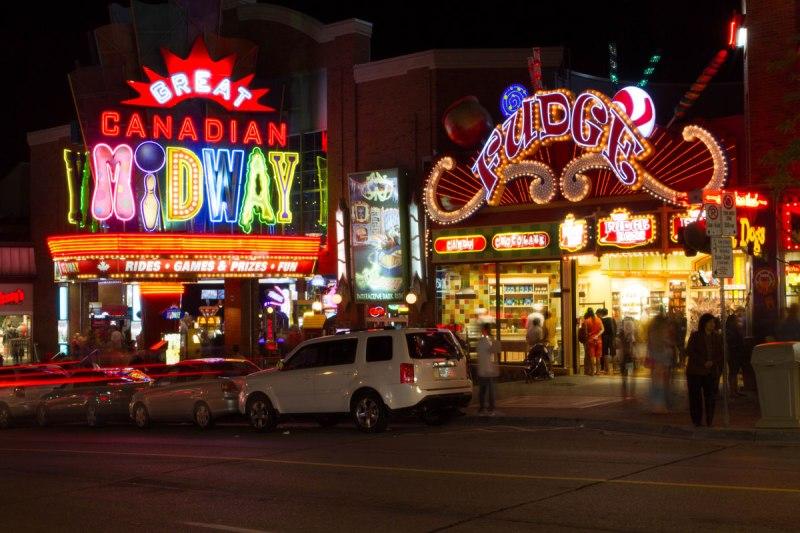 Clifton Hill Niagara Falls Ontario is a fun place for winter in Niagara Falls