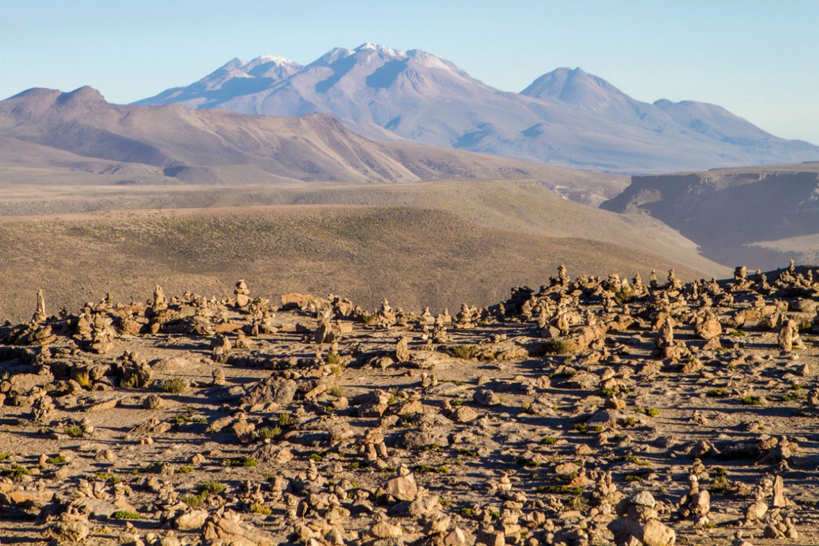 Rocky Landscape at Patapampa Pass in the Peruvian Andes on a road trip through Peru with kids 14 day Peru itinerary