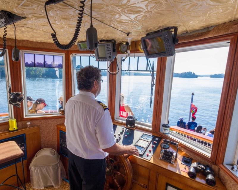 The Captain of the Wenona II on a Lake Muskoka Steamship Cruise