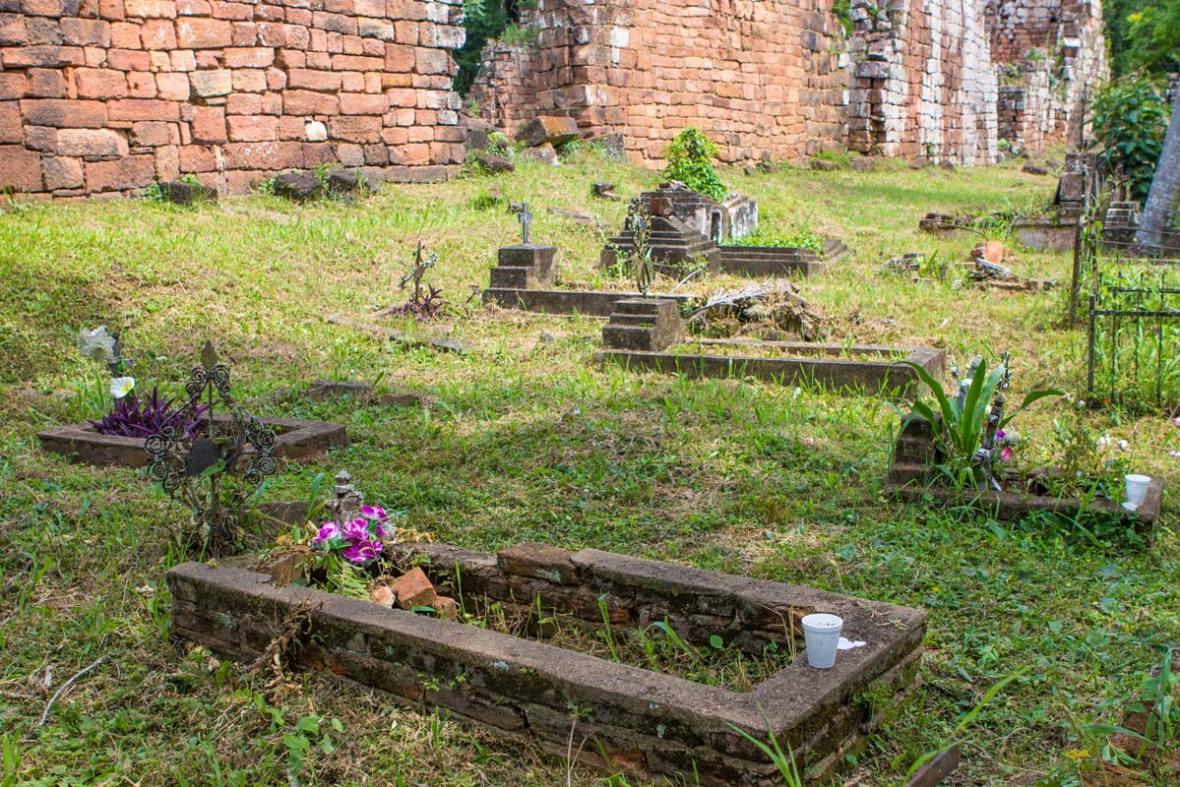 Guarani cemetery at the Santa Ana Jesuit ruins in Argentina