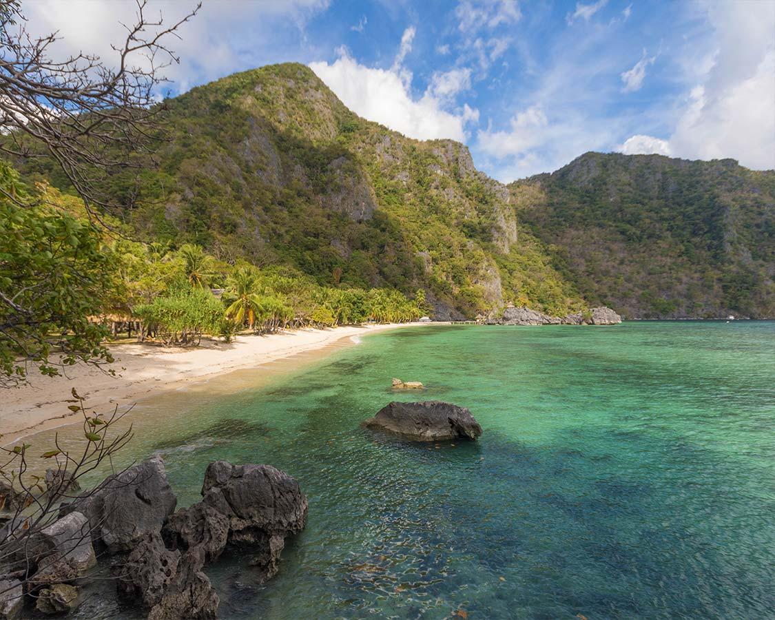 Sangat Island Dive Resort Beach in Coron Palawan