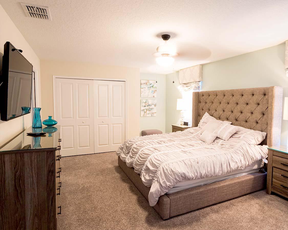 Kissimmee House Rental Master Bedroom