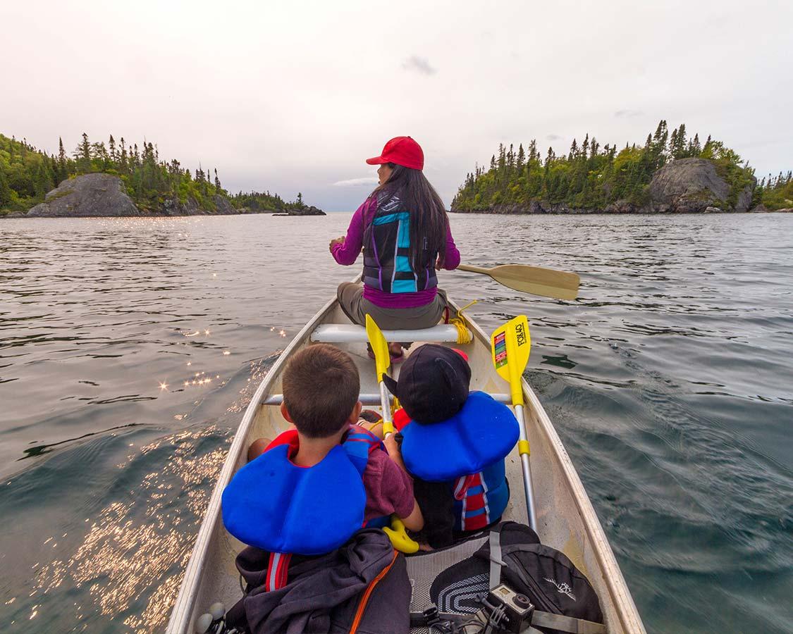 Canoeing in Bruce Peninsula National Park