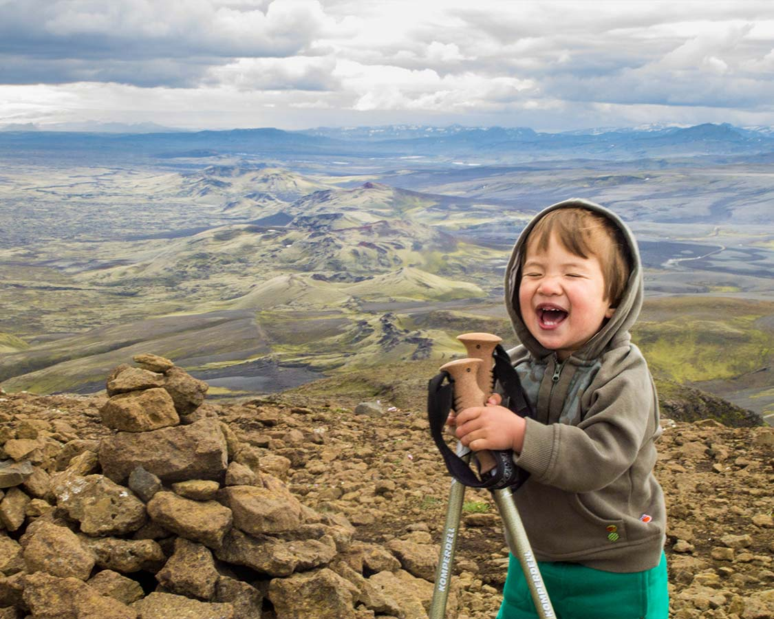 Hiking in Iceland with kids