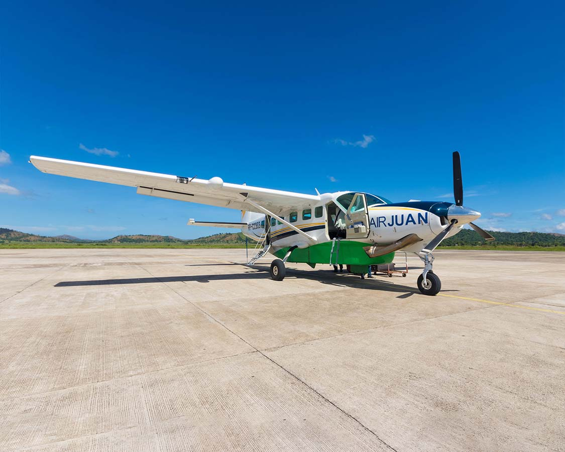 How to get to Coron Island Palawan Air Juan plane