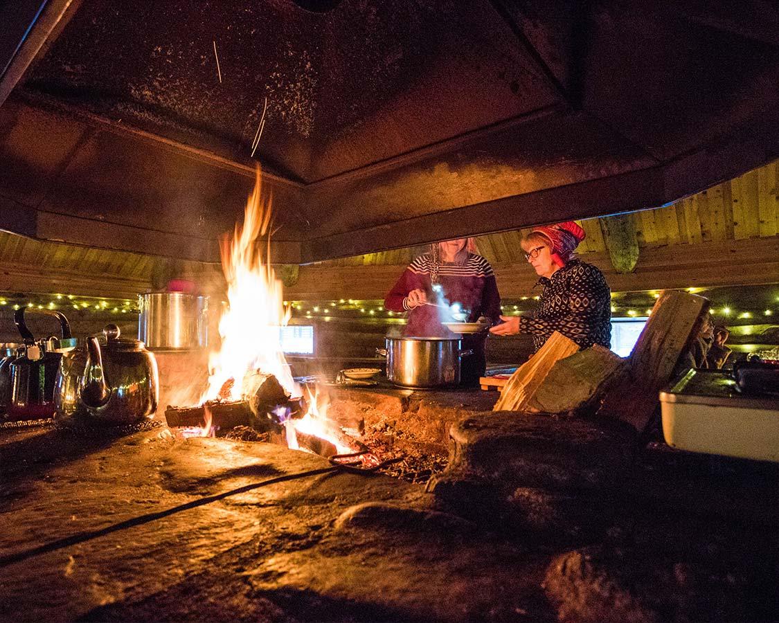 Christmas In Lapland Finland Sami Lavvu in Inari