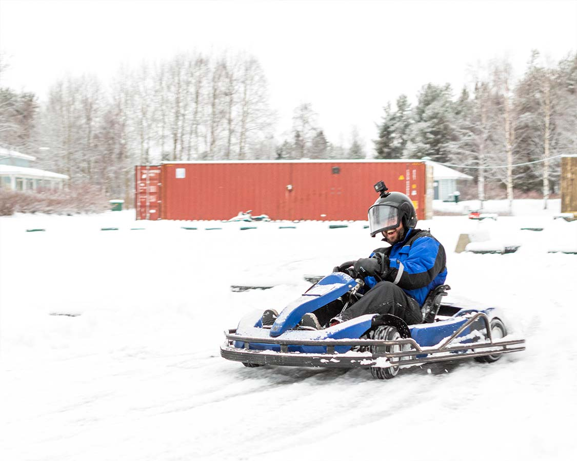 Rovaniemi things to do Ice Karting Access Lapland