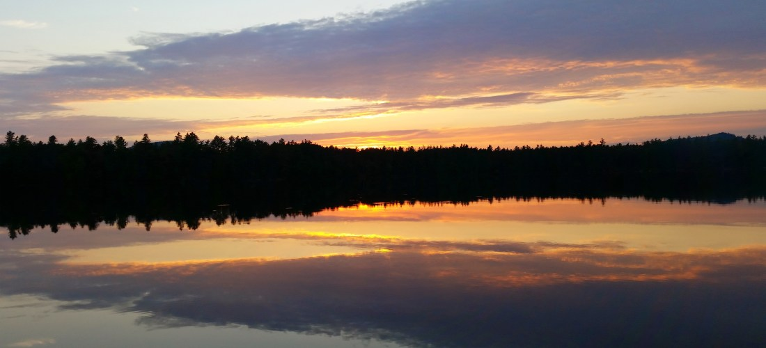 Sunset on Lake in the Adirondacks