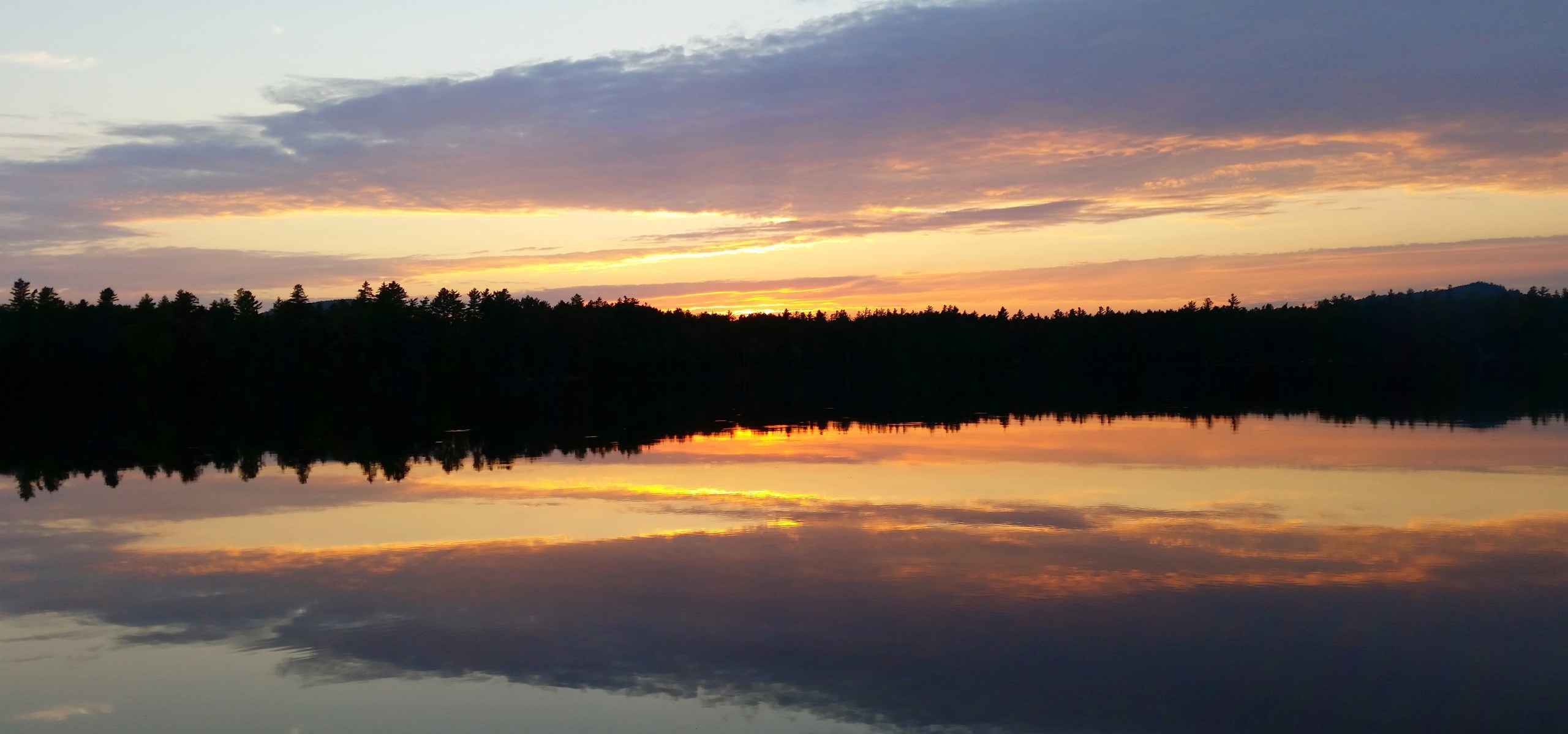 Sunset on Lake in the Adirondacks