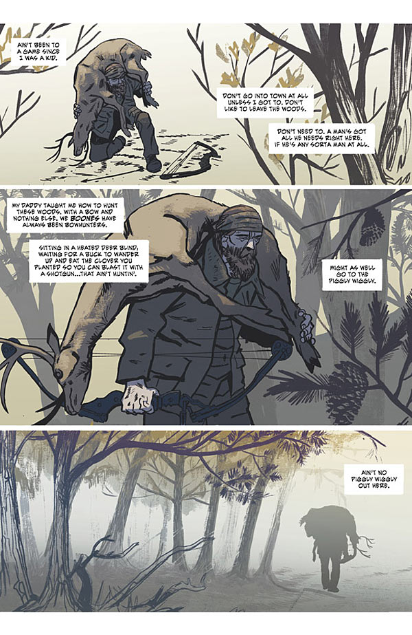 Southern Bastards page by Jason Aaron and Jason Latour