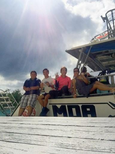 Team Arte: Haven, Angel, ME, March (Carmel not in photo) on MDA boat