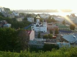 Vom Kreml, der historischen Bergfestung fällt der Blick überall auf tolle Sachen der historisch neueren Unterstadt.