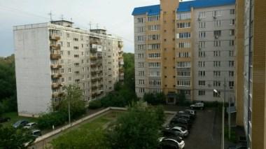 Wieder wohne ich in so einem typischen Hochhausviertel, ca drei km von der Innenstadt Nischni Novgorods entfernt.